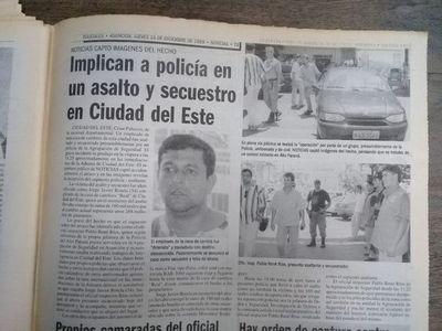 Actual viceministro de Seguridad Interna, acusado de asalto y secuestro hace 21 años