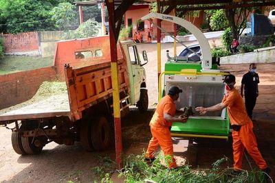 CDE: adquieren trituradora para mitigar quema de ramas en los barrios