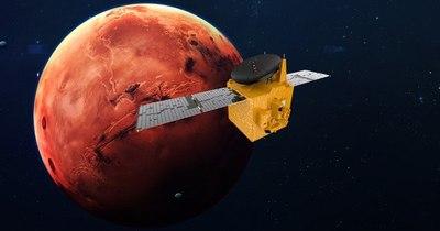 """La Nación / La sonda emiratí """"Esperanza"""" se sitúa en órbita de Marte"""
