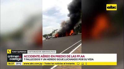 Accidente aéreo en predio de las FF. AA.