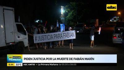 Piden justicia por la muerte de Fabián Marín