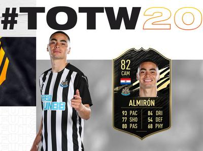 Miggy Almirón es incluido en el Equipo de la Semana del FIFA 21