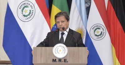 """Canciller sobre Anexo C: """"Si empezamos a dividirnos estaremos beneficiando al Brasil"""""""