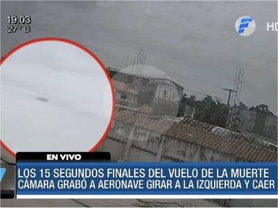 Cámara capta momento de la caída de la avioneta en la Fuerza Aérea