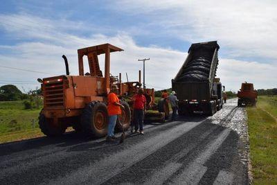 Se inicia asfaltado del tramo Corateí-Yabebyry