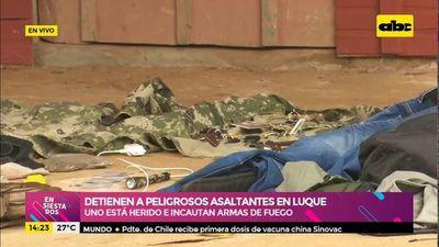 Detienen a peligrosos asaltantes en Luque