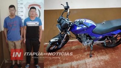 RECUPERAN MOTOCICLETA DENUNCIADA COMO HURTADA EN MARIA AUXILIADORA