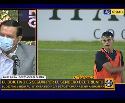Ramón Sosa es la duda en Olimpia