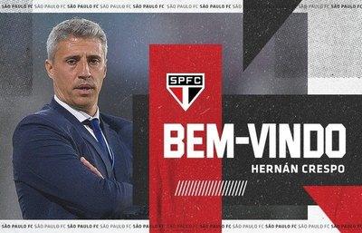 Hernán Crespo, de ganar la Sudamericana a ser nuevo DT de São Paulo