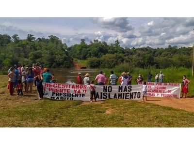 Vecinos de Los Cedrales y Minga Guazú piden traslado de un puente