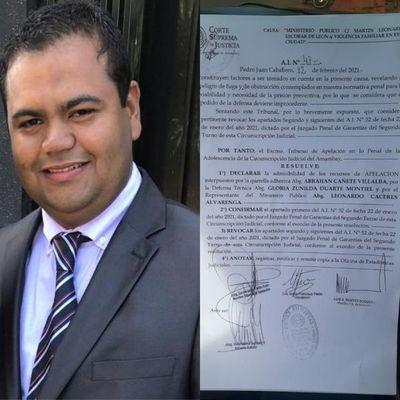 """Revocan medida otorgada al concejal, Martín Escobar, alias """"Pochó"""" por lo que tendrá que volver a prisión"""