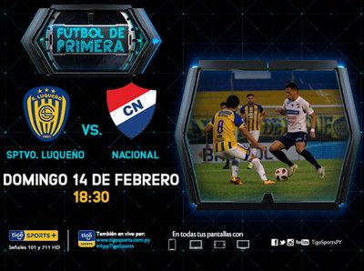 Promesa de buen fútbol entre Luqueño y Nacional