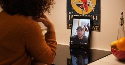 La Nación / San Valentín virtual: pareja de EEUU y Noruega separada por la pandemia