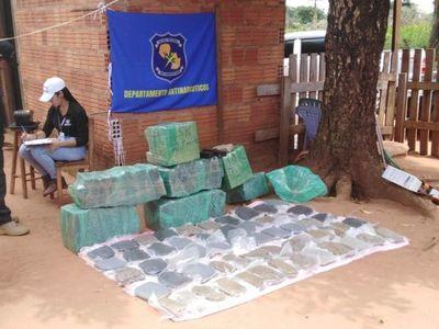 Hallan cerca de 200 kilos de marihuana durante allanamiento en Capitán Bado