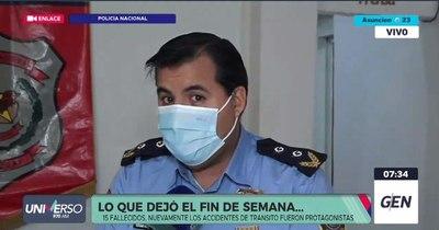 La Nación / Accidentes de tránsito causan 11 de los 15 fallecidos del fin de semana
