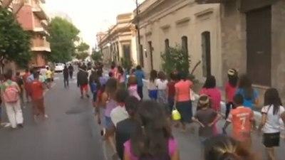 Nativos de Caaguazú marchan exigiendo tierras