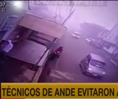 Técnicos de Ande evitan asalto en Alto Paraná
