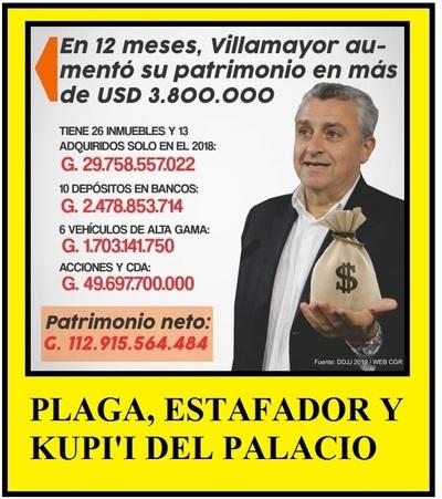 VIVIDOR, ESTAFADOR, BOBO DE LA CORTE Y EL KUP'I DEL PALACIO DE GOBIERNO