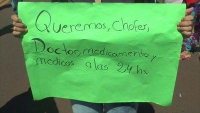 San Pedro: Pobladores se manifiestan para exigir la atención médica las 24 horas del día en el puesto de salud