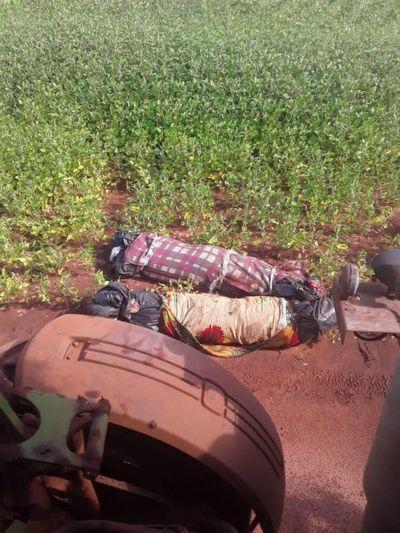 Dos cuerpos fueron encontrados al costado de un camino vecinal