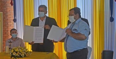 Gobernación de Guairá y la Pastoral Social firman convenio de cooperación interinstitucional