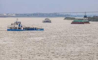 Río Paraguay con nivel óptimo de navegación solo de Asunción hacia el sur del país