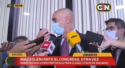 Mazzoleni reitera que vacunas llegarán en esta segunda quincena