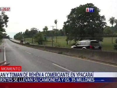 Delincuentes toman de rehén a comerciante y su familia en Ypacaraí