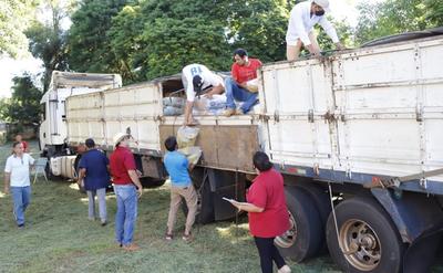 Ministerio de Desarrollo Social entregó alimentos en San Pedro