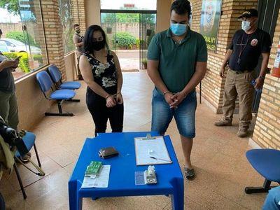 Taxista y funcionaria municipal hacían delivery de cocaína en PJC