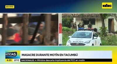 Agentes de la FOPE resguardan el perímetro de Tacumbú