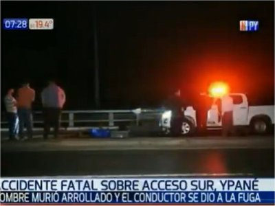 Hombre fallece tras ser arrollado en Ypané