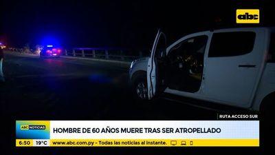 Sexagenario muere tras ser atropellado sobre Acceso Sur