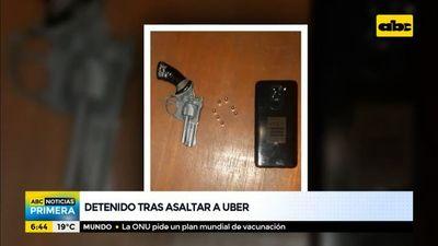 Detenido tras asaltar a conductores de Uber