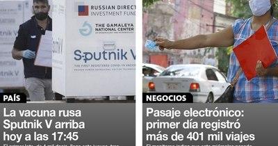 La Nación / Destacados de la mañana del 18 de febrero