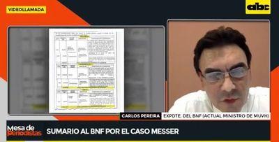 Extitular del BNF sorprendido por tardío sumario en caso Messer