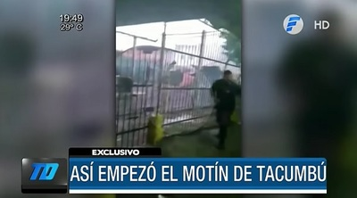Revelan video de cómo comenzó el motín en Tacumbú