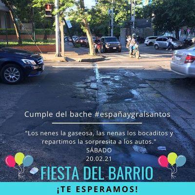 Cancelan cumpleaños de un bache de la avenida España