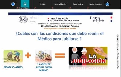 Caja Fiscal realizó charla informativa sobre jubilación de médicos