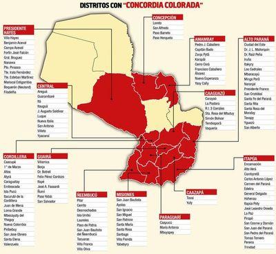 """""""Cicatriz"""" no logró la """"Concordia"""" en los  distritos más grandes del país"""