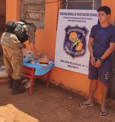 Capturan a presunto microtraficante en Pedro Juan Caballero