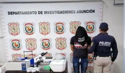 Robó un laboratorio y ofrecía instrumentos por redes sociales, fue detenido