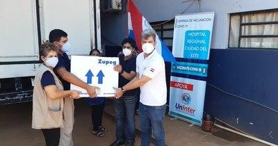 La Nación / Llegaron a Alto Paraná las primeras 300 dosis de vacunas contra el COVID-19