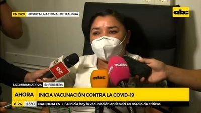 Las palabras de la primera vacunada contra el covid-19 en Paraguay