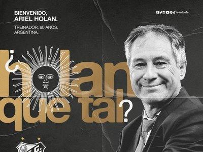 El Santos anuncia a Ariel Holan como nuevo técnico