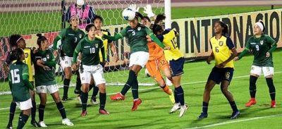 Selección femenina: Bolivia cae 0-3 ante Ecuador