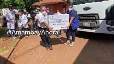 Primeras 70 dosis de vacunas contra el Covid-19 llegaron en Pedro Juan