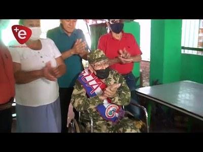 UN VERDADERO HÉROE DEL CHACO Y DE LA VIDA CUMPLIÓ 104 AÑOS EN ENCARNACIÓN