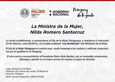 Ante temor de escrache, ministerio recula homenaje a Marito en Día de la Mujer Paraguaya