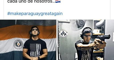La Nación / Candidato a concejal por lista de Prieto difunde imagen practicando tiros